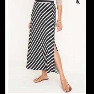Chico's Maxi Side Slits Striped Skirt